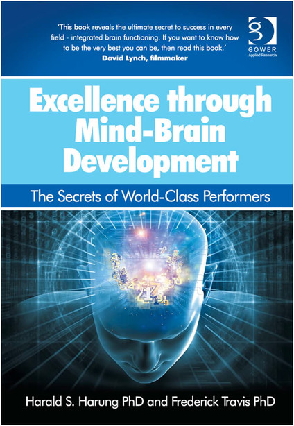 "Portada del libro de Harald Harung y Frederick Travis ""Excellence through Mind-Brain Development: The Secrets of World-Class Performers"""