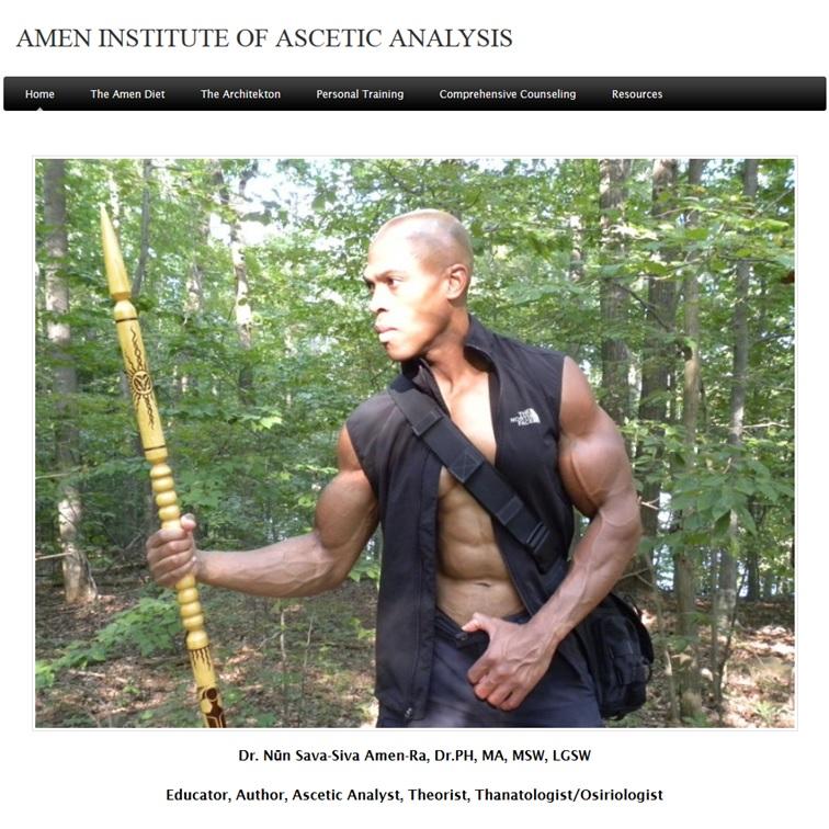 Portada de la web del Dr. Nun S. Amen Ra