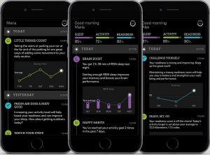 Imagen de la app de Oura. Con esta aplicación móvil se pueden cargar los datos que recoge el anillo Oura y ver las recomendaciones para el sueño y actividad física.