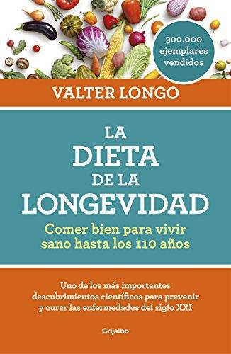 """Portada del libro de Valter Longo """"La dieta de la longevidad"""""""