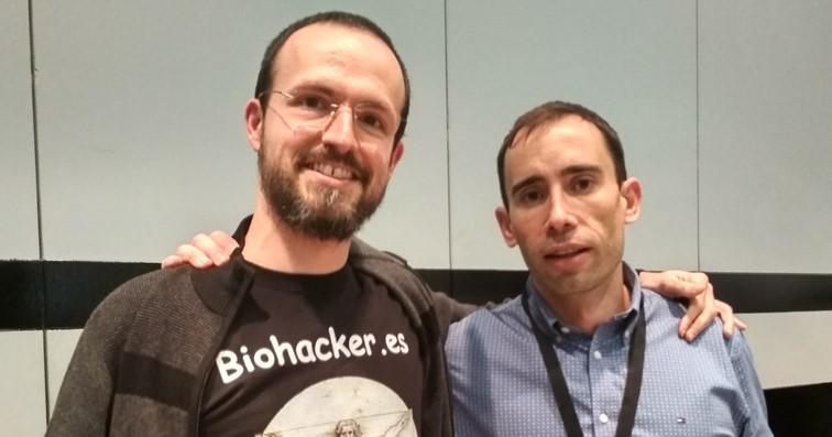 Marcos Vázquez de Fitness Revolucionario (derecha) y Carlos Esteban de Biohacker.es (izquierda)
