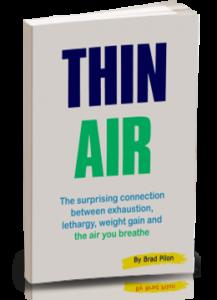 """Thin Air"" portada del libro de Brad Pilon"