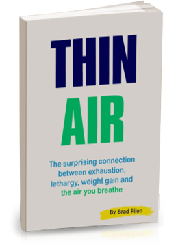 """Thin Air"" portada del libro de Brad Pilon"