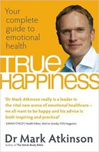 "Portada del libro ""True Happiness"" del Dr. Mark Atkinson"